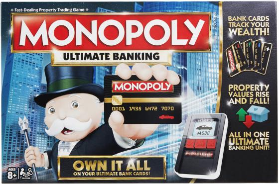 Настольная игра логическая HASBRO Монополия с банковскими карточками B6677 настольная игра hasbro hasbro настольная игра монополия миллионер
