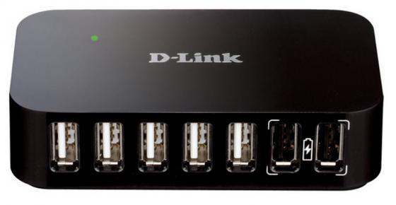 Концентратор USB 2.0 D-Link DUB-H7/B/D1A 7 x USB 2.0 черный концентратор usb 3 0 d link dub 1370 7 x usb 3 0 черный