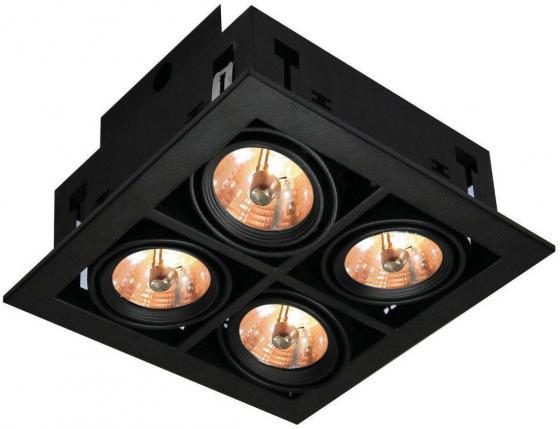 Встраиваемый светильник Arte Lamp Cardani A5930PL-4BK встраиваемый спот точечный светильник arte lamp cardani a5935pl 4bk