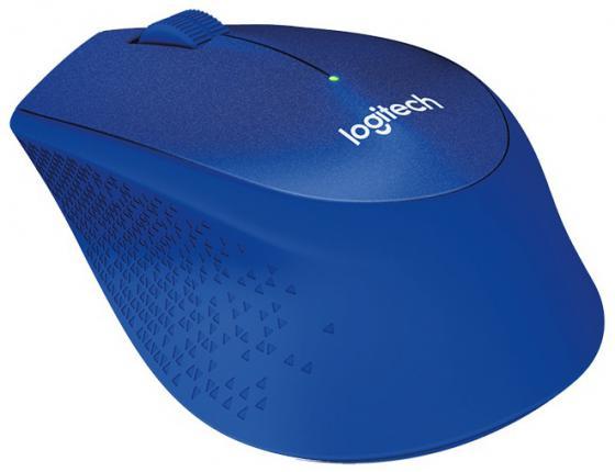 Фото - Мышь беспроводная Logitech M330 Silent Plus синий USB 910-004910 мышь logitech b220 silent black беспроводная 910 004881