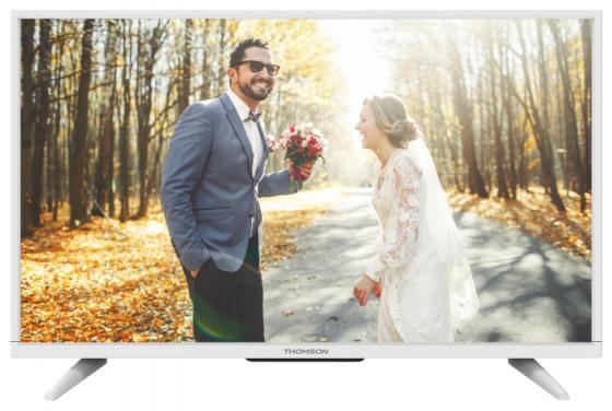 Телевизор 32 Thomson T32D16DH-01W белый 1366x768 50 Гц SCART VGA USB телевизор 43 thomson t43d19sfs 01w