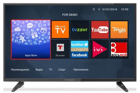 Телевизор 32 Thomson T32D19DHS-01B черный 1366x768 50 Гц Wi-Fi Smart TV RJ-45 WiDi