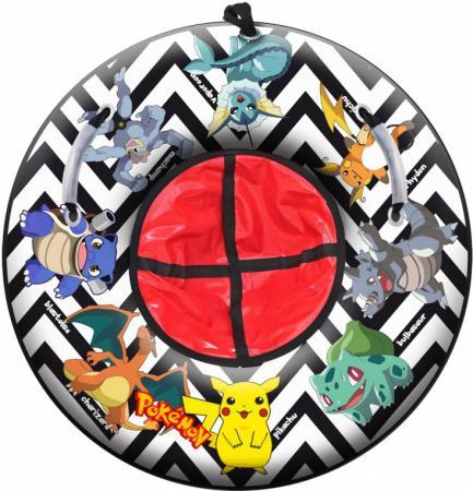 Тюбинг R-Toys POKEMON Raichu до 120 кг ПВХ разноцветный диаметр 87 см тюбинг rt rt тюбинг pokemon raichu диаметр 105 см