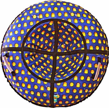 Тюбинг RT Симпсоны до 120 кг ПВХ синий диаметр 118 см тюбинг rt практик 118 см синий голубой до 120 кг пвх