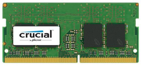 Оперативная память для ноутбука 16Gb (1x16Gb) PC4-19200 2400MHz DDR4 SO-DIMM CL17 Crucial CT16G4SFD824A цена