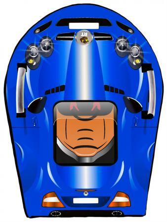 Ледянка RT SNOW AUTO L SLR MClaren до 150 кг ПВХ синий тюбинг санки снегокаты rt леденцы разноцветный до 120 кг пвх
