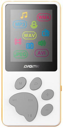 Плеер Digma S3 4Gb белый/оранжевый плеер flash digma s3