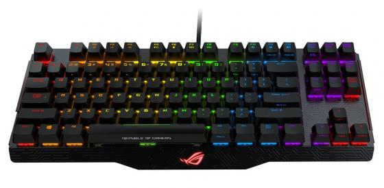 Клавиатура проводная ASUS ROG Claymore Core Black Switches USB черный Multimedia LED 90MP00I3-B0RA00 клавиатура asus strix tactic pro cherry mx black black usb 90yh0081 b2ra00