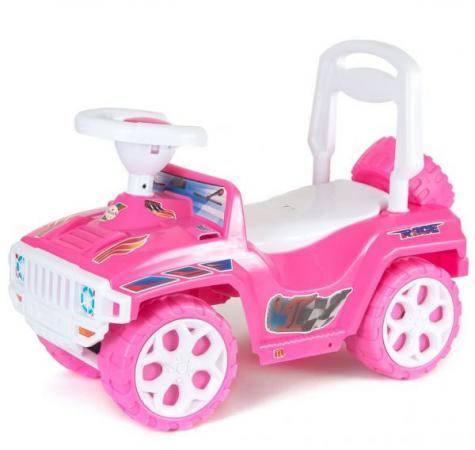 Каталка-машинка R-Toys Mini Formula 1 пластик от 10 месяцев на колесах розовый ОР856 е о хомич энциклопедия с дополненной реальностью для малышей