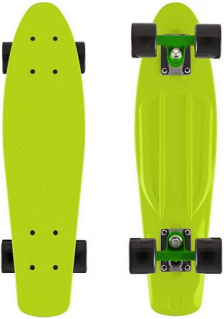 "Скейтборд Y-SCOO Fishskateboard 22"" винил 56,6х15 с сумкой LIME/black 401-L superior f l y 24 2017"