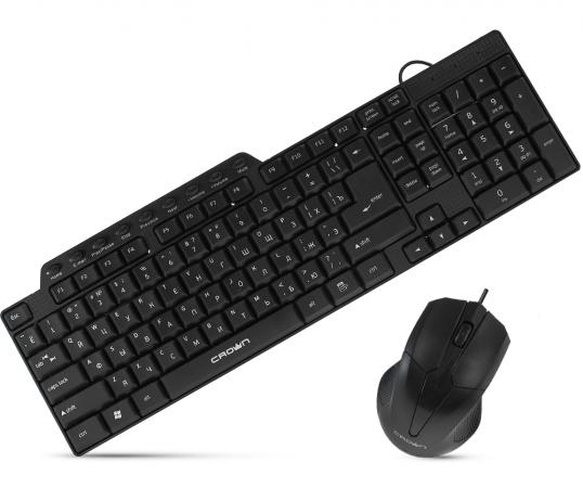 Комплект CROWN CMMK-520B черный USB комплект crown cmmk 952w черный usb cm000001477