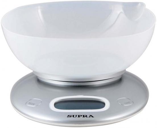 все цены на Весы кухонные Supra BSS-4022 серебристый онлайн