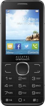 Мобильный телефон Alcatel OneTouch 2007D коричневый 2.4 16 Мб 2007D-2BALRU1-1 аксессуар защитная пленка alcatel onetouch idol alpha media gadget premium прозрачная mg986