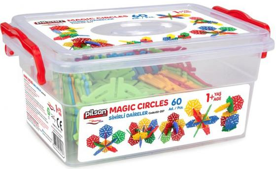 Конструктор Pilsan Magic Circles 60 элементов 03-257 конструктор pilsan master blocks 260 дет 03 454