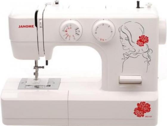 Швейная машина Jaguar 101 белый/цветы цена