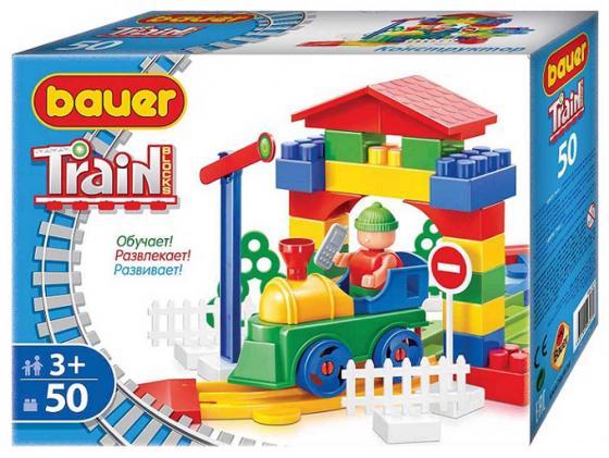 Конструктор Bauer Железная дорога 50 элементов 327 bauer кроха bauer кроха конструктор железная дорога new 200 элементов