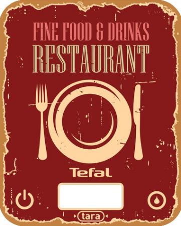 цена Весы кухонные Tefal BC5104V1 красный рисунок
