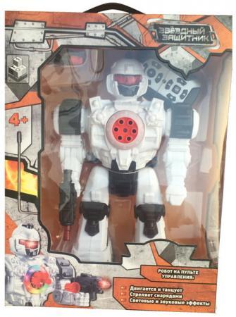 Купить со скидкой Боевой робот 1Toy Звездный защитник 26 см двигающийся на радиоуправлении со звуком светящийся Т59068