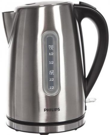 купить Чайник Philips HD9327/10 2200 Вт серебристый 1.7 л нержавеющая сталь по цене 2900 рублей