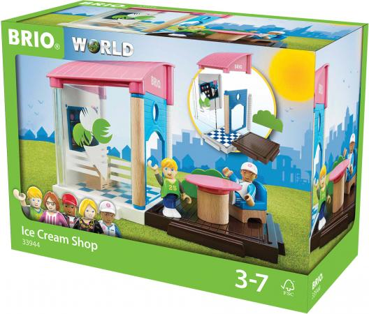 Игровой набор Brio Кафе-мороженое,13 предметов игровой набор кафе мороженое brio 33944