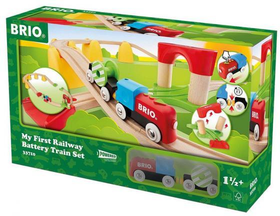 Набор Brio «Моя первая железная дорога с поездом на батарейках» brio поезд 33595