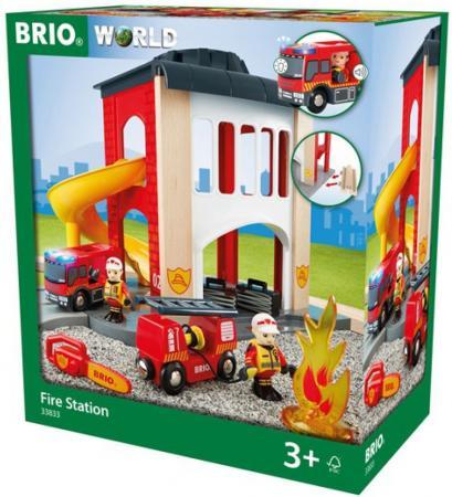 Игровой набор Brio Пожарное отделение,2 эт.,свет,звук,12 предм.,35х20х39см,кор. brio игровой набор brio полицейский участок свет звук 6 элементов