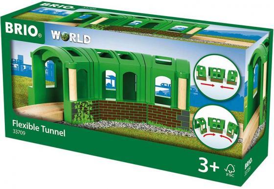 Тоннель-трансформер Brio из 3х секций,22х8х8см,кор. железные дороги brio ж д переезд 26 элементов