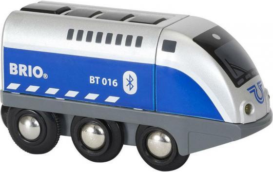 Паровозик Brio управляемый с мобильного приложения,свет,звук 33863 brio игрушка мой первый паровозик