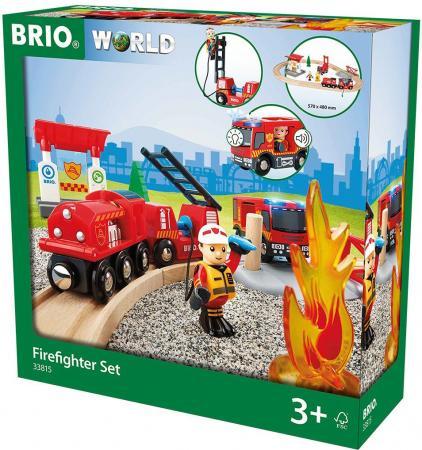 Игровой набор Brio Пожарная станция,свет,звук,18 предметов brio brio игровой набор парк развлечений 7 элементов