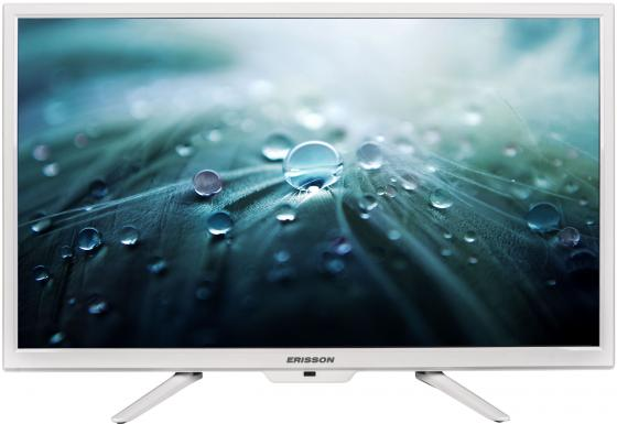 Телевизор 24 Erisson 24 LES 78 Т2 белый 1366x768 50 Гц USB HDMI VGA led телевизор erisson 32 les 78 t2w