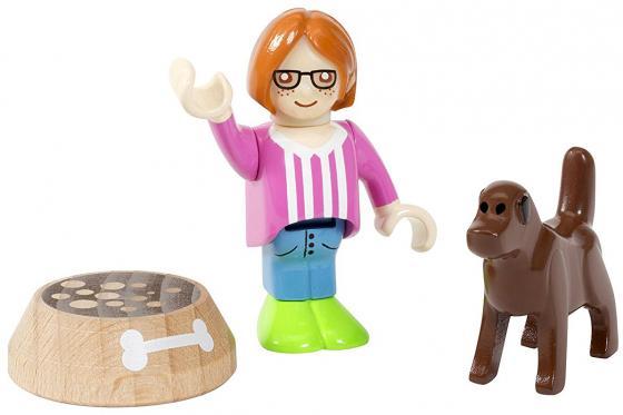 Игровой набор Brio с человечком, собакой и миской фигурки pavone фигурка дама с собакой