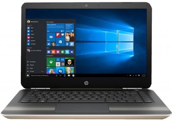 Ноутбук HP Pavilion 14-al104ur 14 1920x1080 Intel Core i3-7100U 500 Gb 6Gb nVidia GeForce GT 940MX 2048 Мб золотистый Windows 10 Home Z3D86EA ноутбук lenovo ideapad 320 15iskk 15 6 1920x1080 intel core i3 6006u 500 gb 4gb nvidia geforce gt 920mx 2048 мб черный windows 10 home 80xh00ktrk