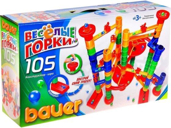 Конструктор Bauer Весёлые горки 105 элементов 274 конструкторы bauer стройка 50 элементов