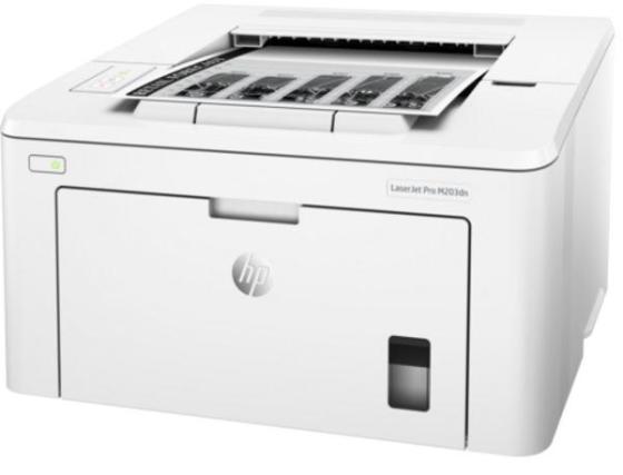 Фото - Принтер HP LaserJet Pro M203dn G3Q46A A4 1200x1200 дуплекс 28ppm 256Мб Ethernet USB 2.0 принтер hp officejet pro 6230 e3e03a цветной a4 18 10ppm 1200x600dpi дуплекс ethernet usb wifi