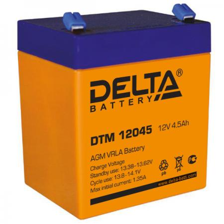 Батарея Delta DTM 12045 4,5Ач 12В new original dvp48eh00r3 delta plc eh3 series 100 240vac 24di 16do relay output