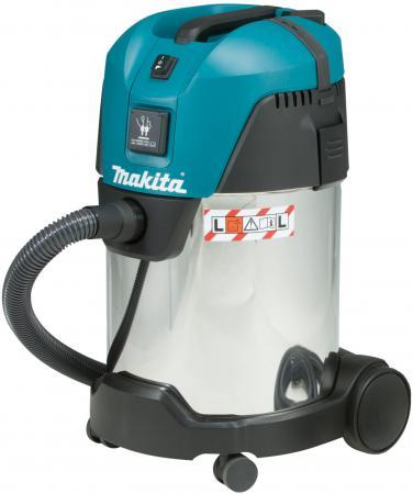 Промышленный пылесос Makita VC3011L сухая влажная уборка синий серый