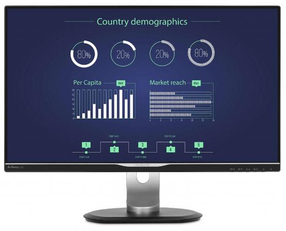 Монитор 25 Philips 258B6QUEB черный AH-IPS 2560x1440 350 cd/m^2 5 ms DVI HDMI VGA Аудио USB LAN монитор 32 philips 328p6aubreb 00 черный ips 2560x1440 450 cd m^2 4 ms hdmi displayport usb аудио lan vga usb type c