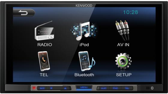 Автомагнитола Kenwood DMX100 6.8 800х480 USB MP3 FM 2DIN 4x50Вт черный автомагнитола kenwood kmm 103ay kmm 103ay