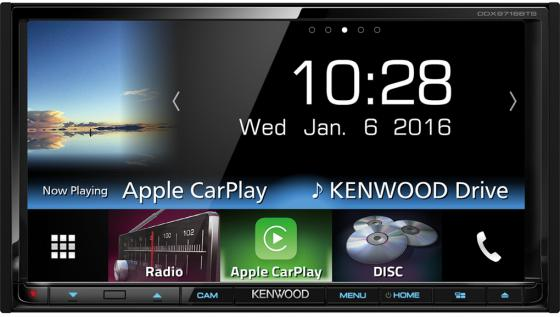 Автомагнитола Kenwood DDX9716BTSR 7 800х480 USB MP3 CD DVD FM RDS 2DIN 4x50Вт черный автомагнитола kenwood kdc bt500u usb mp3 cd fm rds 1din 4х50вт черный