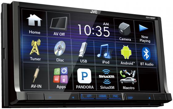 Автомагнитола JVC KW-V420BT 7 800x480 USB MP3 DVD CD FM 2DIN 4x50Вт черный te765 etp 7 inch 800x480 ethernet hmi touch screen te765 etp new with usb program download cable fast shipping
