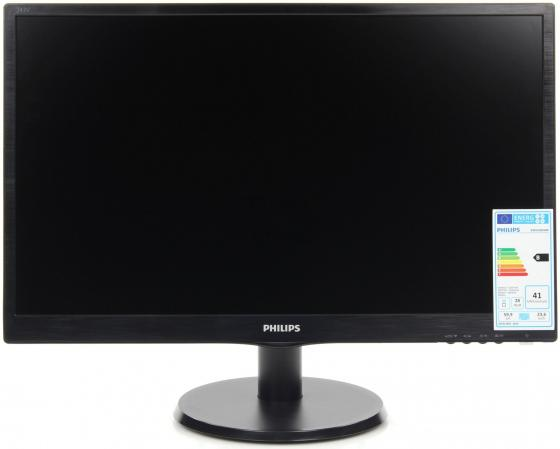 Монитор 24 Philips 243V5QHABA черный MVA 1920x1080 250 cd/m^2 8 ms DVI HDMI VGA Аудио монитор 20 philips 200v4qsbr черный mva 1920x1080 250 cd m^2 8 ms vga dvi