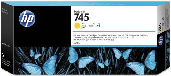 Картридж HP 745 F9K02A для DesignJet желтый