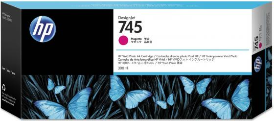 Картридж HP 745 F9K01A для HP DesignJet пурпурный картридж hp cf213a 131a пурпурный