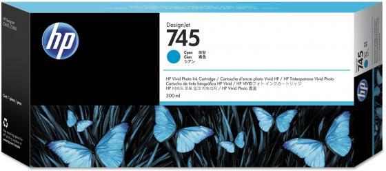 Картридж HP 745 F9K03A 300ml для HP DesignJet голубой hp designjet t830 36 f9a30a
