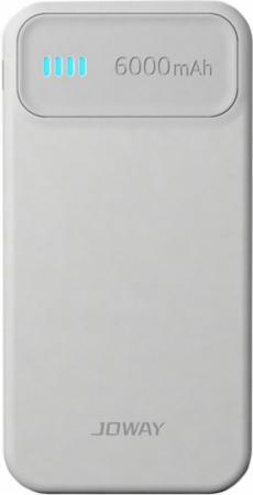 Внешний аккумулятор Joway JP61 6000 mAh белый серый внешний аккумулятор samsung eb pn930csrgru 10200mah серый