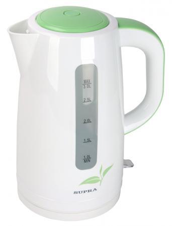 Чайник Supra KES-3012 2200 Вт белый зелёный 3 л пластик supra kes 2301 grey