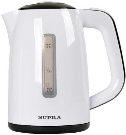 Чайник Supra KES-1728 2200 Вт белый серый 1.7 л пластик supra kes 2301 grey