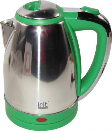 все цены на Чайник Irit IR-1314 1500 Вт зелёный 1.8 л нержавеющая сталь онлайн