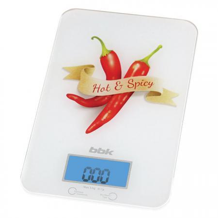 Весы кухонные BBK KS106G белый красный весы кухонные bbk ks107g синий красный с рисунком
