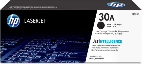 Картридж HP 30A CF230A для HP LaserJet Pro M203/M227 черный new paper delivery tray assembly output paper tray rm1 6903 000 for hp laserjet hp 1102 1106 p1102 p1102w p1102s printer